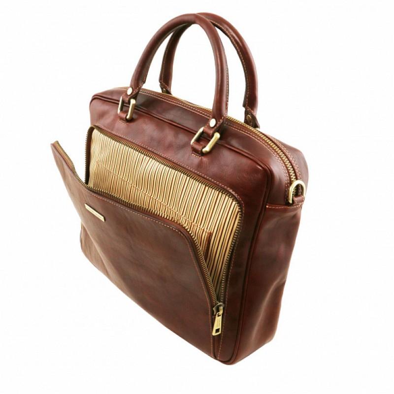 314fea2009b6 Кожаный портфель для документов Pisa (Коричневый) - купить в Москве ...