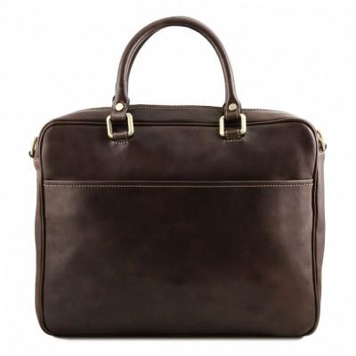Мужской портфель из натуральной кожи Pisa (Темно-коричневый)
