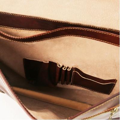 Кожаный портфель мужской TORINO (Коричневый)