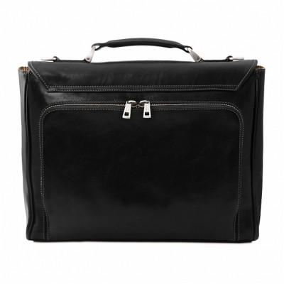 Кожаный портфель мужской TRIESTE (Черный)