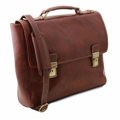 Кожаный портфель для документов TRIESTE (Коричневый)