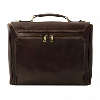Кожаный портфель мужской TRIESTE (Темно-коричневый)