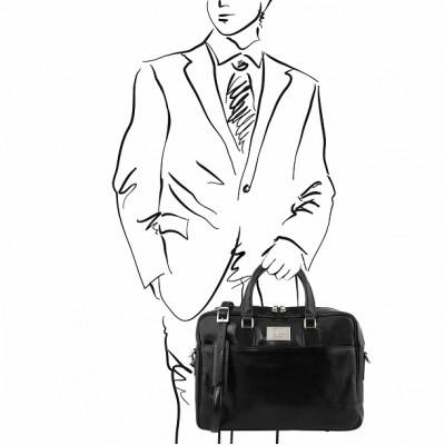 Кожаный портфель для документов URBINO (Черный)