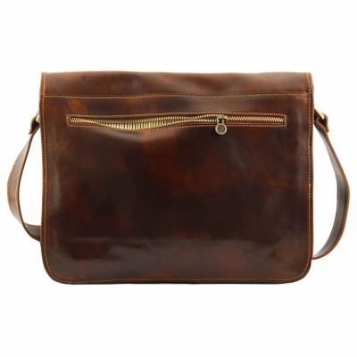 Мужская сумка через плечо MESSENGER DOUBLE (Коричневый)
