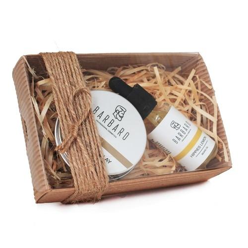 Barbaro Set №11 - Подарочный набор из глины для укладки волос и масла для бороды
