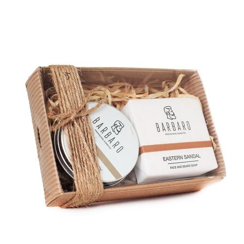 Barbaro Set №12 - Подарочный набор из глины для укладки волос и матирующего мыла для бороды