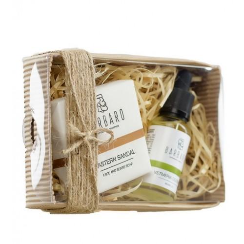 Barbaro Set №2 - Подарочный набор для бородача из матирующего мыла и масла для бороды.