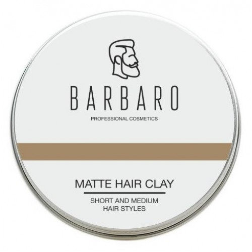 Barbaro Matt Clay - Матовая глина для укладки волос 100 гр