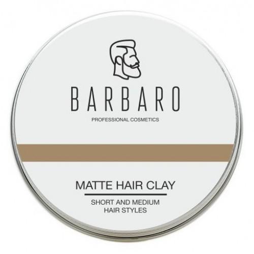 Barbaro Matt Clay - Матовая глина для укладки волос 60 гр