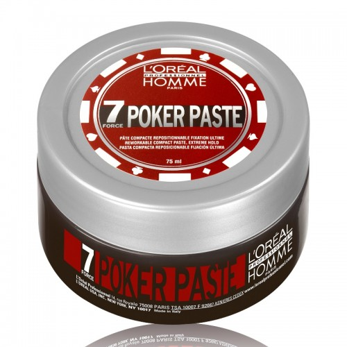 L`Oreal Professionnel Homme Pocker Paste - Моделирующая паста экстремально сильной фиксации 75 мл