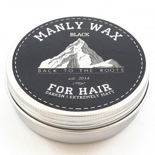 Manly Wax Black - Воск для волос сильной фиксации, 100 гр