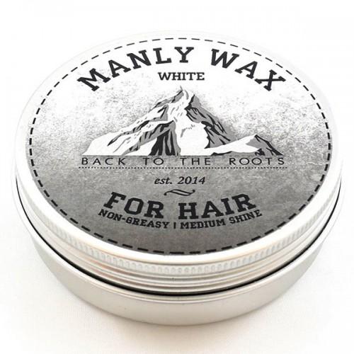 Manly Wax White - Воск для волос сильной фиксации со средним уровнем блеска, 100 гр