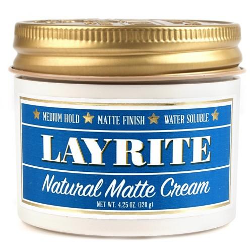 Layrite Natural Matte Cream - Матовый крем для укладки волос средней фиксации 120 гр