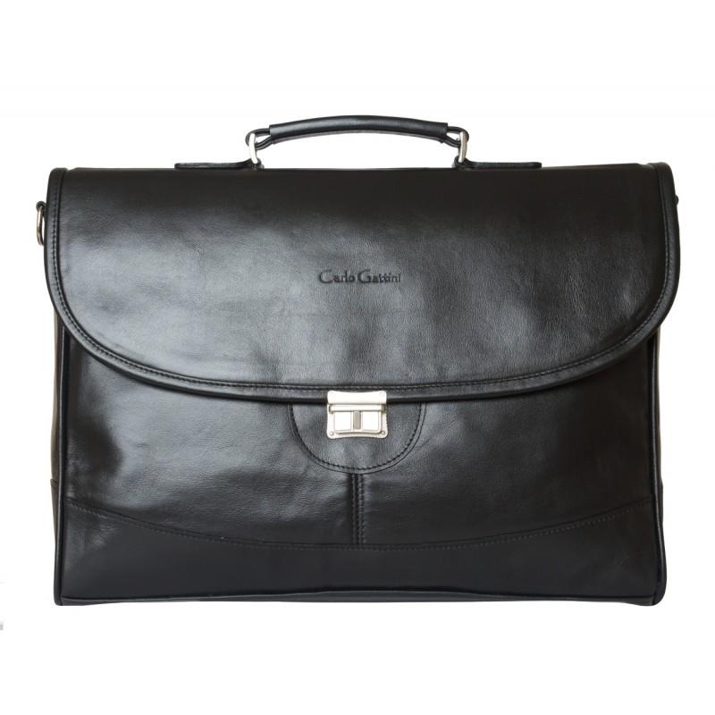 Кожаный портфель мужской Ferrada black (арт. 2006-01)