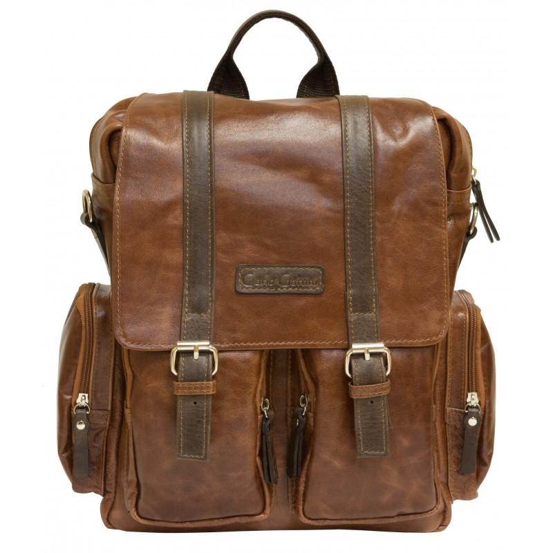 67937d1c1647 Мужской рюкзак-сумка из натуральной кожи Fiorentino cognac/brown (арт. 3003-