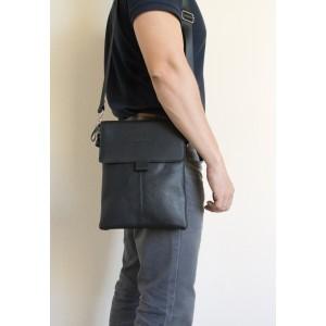 Кожаная мужская сумка через плечо Alessano black (арт. 5030-01)