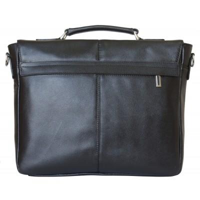 Кожаный портфель Fontevivo black (арт. 2005-01)