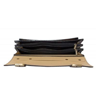 Кожаный портфель Corfino black (арт. 2008-01)