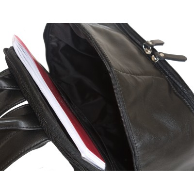 Кожаный рюкзак Altino black (арт. 3023-01)