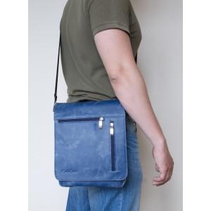 Кожаная мужская сумка через плечо  Oscano blue (арт. 5009-07)
