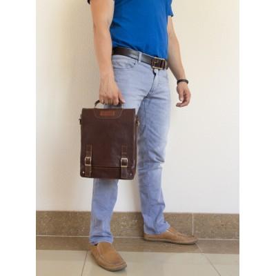 Кожаный портфель мужской Carlo Gattini Torrano dark terracotta (арт. 2013-94)