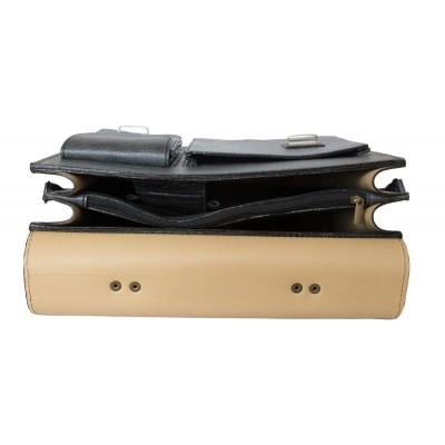 Кожаный портфель Fagetto black (арт. 2004-05)