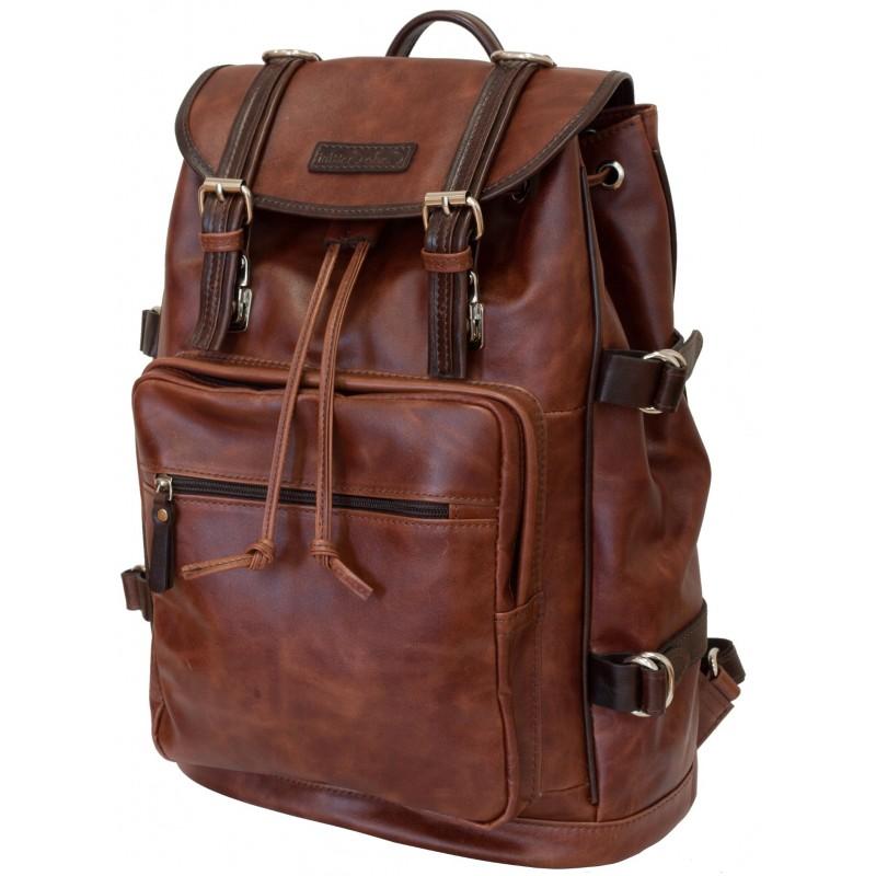 0ed436e6d267 Мужской рюкзак из натуральной кожи Volturno cognac/brown (арт. 3004-03)