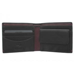 Бумажник  Visconti AP62  Black/Burgundy