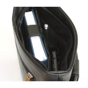 Кожаная мужская сумка через плечо  Lonato black (арт. 5011-01)