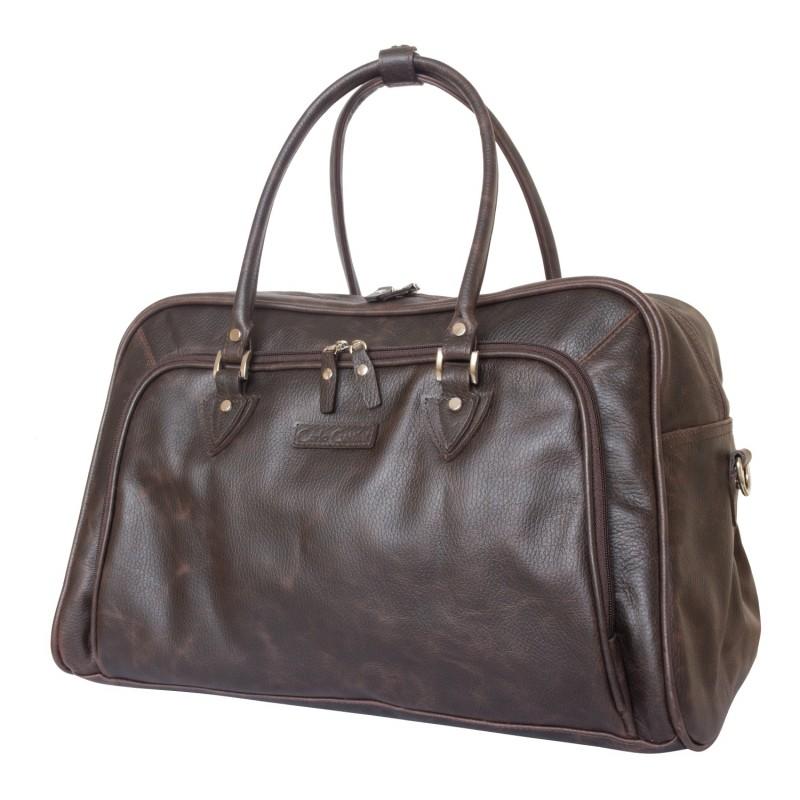 e4f49958394a Кожаная дорожная сумка Vettore brown (арт. 4005-02) - купить в ...