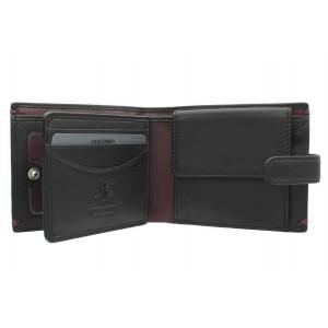 Бумажник  Visconti AP63  Black/Burgundy