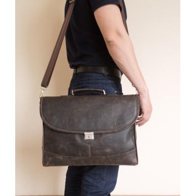 Кожаный портфель Ferrada brown (арт. 2006-04)