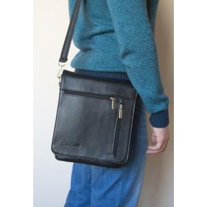 Кожаная мужская сумка через плечо Oscano black (арт. 5009-01)