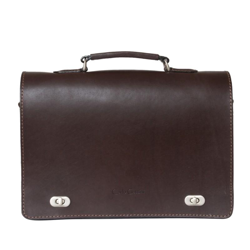 Кожаный портфель Rofelle brown (арт. 2001-31)