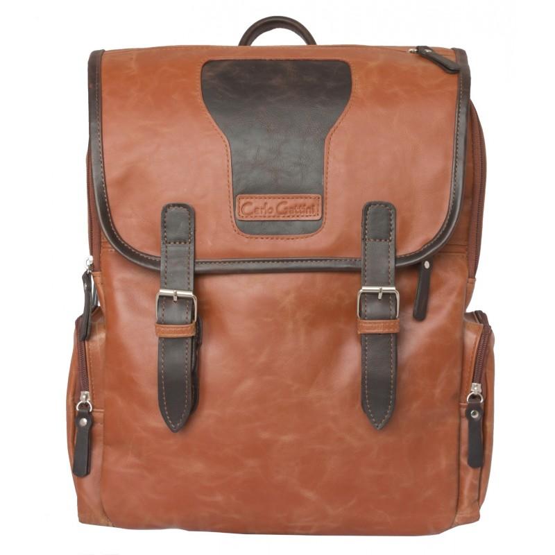 e3acae7f2cae Кожаный рюкзак Santerno cognac/brown (арт. 3007-03) - купить в ...