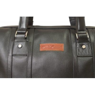 Кожаная мужская сумка Rettori black (арт. 5012-01)