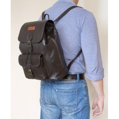 Мужской рюкзак из натуральной кожи Cavino brown (арт. 3021-04)