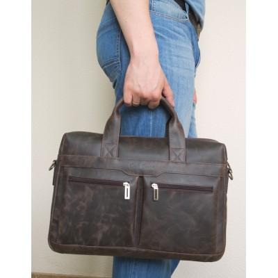 Мужская сумка Lugano brown (арт. 1007-02)