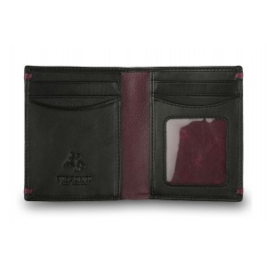 Бумажник  Visconti AP60  Black/Burgundy
