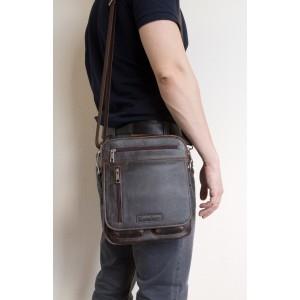 Кожаная мужская сумка через плечо  Tanaro brown (арт. 5015-04)