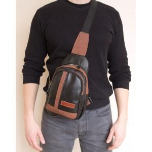 Мужской рюкзак из натуральной кожи Fossalta black (арт. 3029-01)