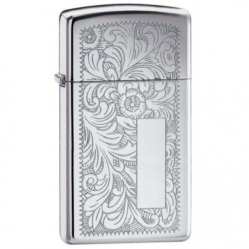 Зажигалка Zippo Slim Venetian High Polish Chrome