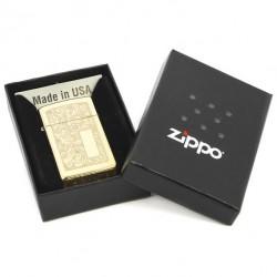 Зажигалка Zippo Slim Venetian High Polish Brass