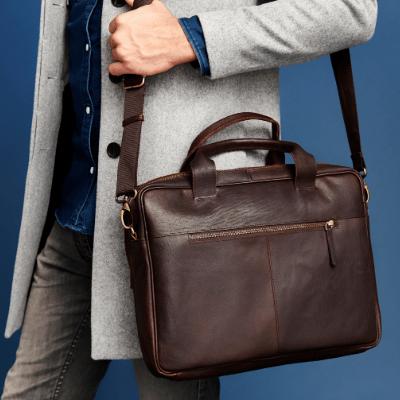 Мужские кожаные горизонтальные сумки через плечо